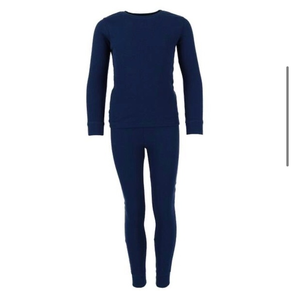 Only Other - NEW! Waffle Thermal Boys Navy Long Underwear Set
